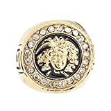 .iced-out. Bling Hip Hop Designer Ring - Medusa Gold - 11