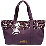 French Kitty Handtasche, auberginefarbenes Leinen in Cord-Optik- von International Connection