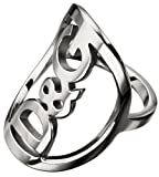 Dolce & Gabbana JEWELS D&G STARS RING #14 WITH MIDDLE CIRLE AND LOGO DJ0522