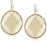 Kenneth Jay Lane Gold Circle Wire Earrings by Kenneth Jay Lane