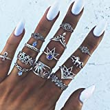 Yesiidor 13 pcs Midi Ringe Set Silber Für Damen Retro Fingerring Nagel Finger
