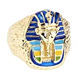 .iced-out. Bling Hip Hop Designer Ring - PHARAOH gold - 9