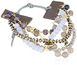 Chan Luu Damen Statement-Armbänder Messing - BGZ-5459 Blue Lace Agate Mix
