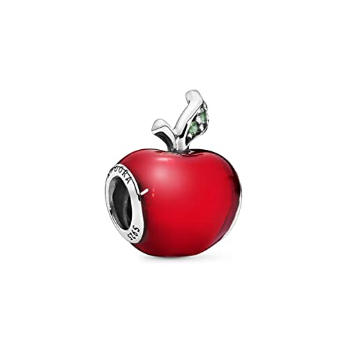 Pandora Disney Snow White's Red Apple Charm Sterling Silber, Cubic Zirconia, Emaille 791572EN73