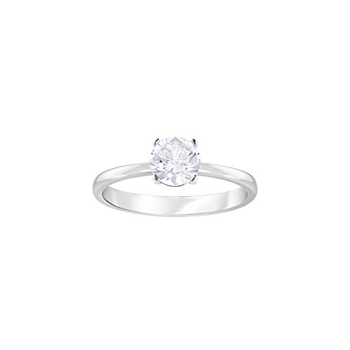 Swarovski Attract Ring , Rhodiniert , weiss , 49