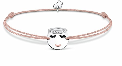 Thomas Sabo Damen-Armband Little Secret Engel Emoticon925 Sterling Silber Beige LS042-380-19-L20v