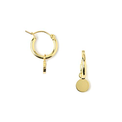 Chunky Mini Coin Hoop Earrings