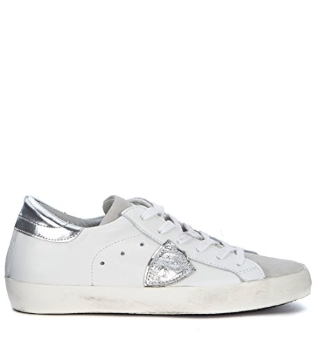 Philippe Model Sneakers Modell Paris In Leder Weiss & Silber