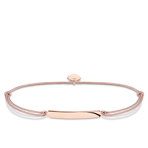 Thomas Sabo Damen-Armband Little Secret Classic 925 Sterling Silber 750 Roségold Beige LS027-597-19-L20v