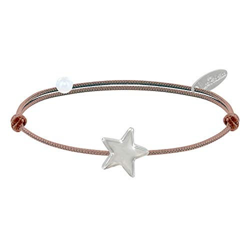 Schmuck Les Poulettes - Sterling Silber Armband Link Stern - Classics - Beige