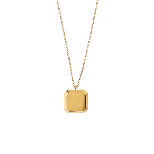Orelia Damen Kette Bevelled Square Short Necklace Gold One Size