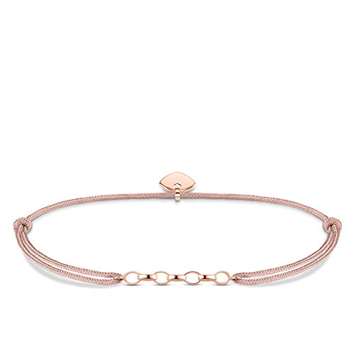 Thomas Sabo Damen-Armband Little Secret 925 Sterling Silber rosé vergoldet Beige LS049-597-19-L20v