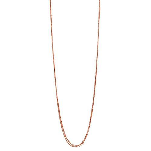 Links Of London Essentials Silk 5 Row Necklace - Rose Gold ~ 5020.3375