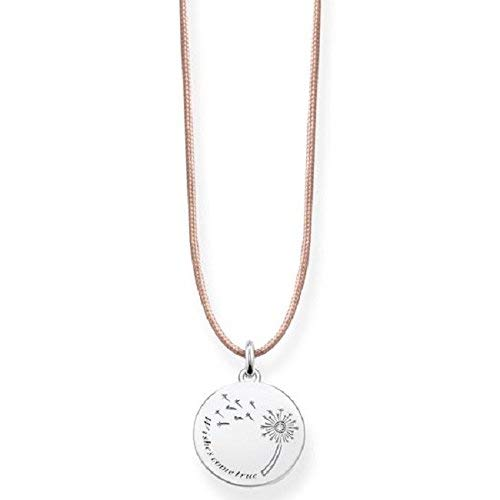 Thomas Sabo Damen-Kette Choker Pusteblume Wishes Come True 925 Sterling Silber beige LSKE006-401-19-L80v