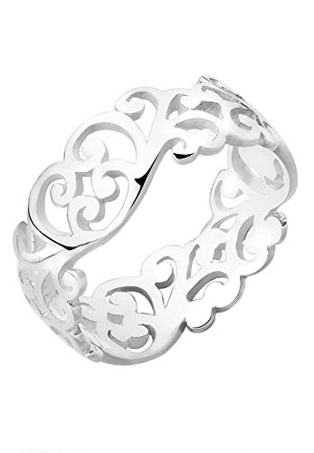 Elli Ring Damen Ornament Cut Out Blätter in 925 Sterling Silber