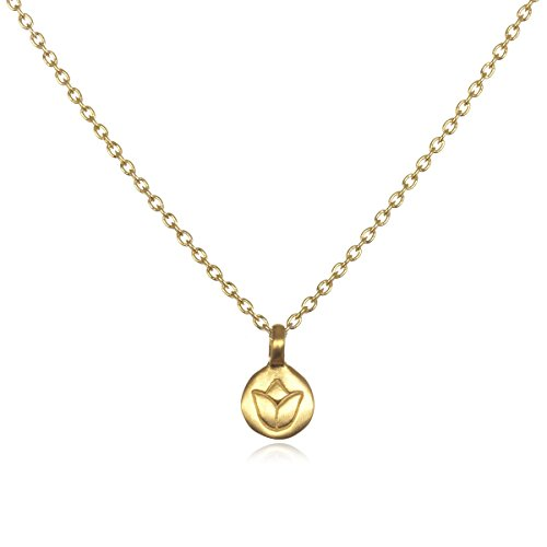 Satya Gold Lotus Delicate Flower Necklace