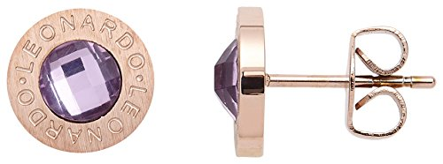 Leonardo Jewels Damen Ohrstecker roségold/violett Matrix