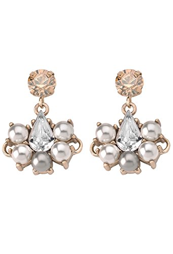 Anton Heunis Damen Ohrring 'Small Pearl Drop' cream Statement Ohrstecker Ohrhänger