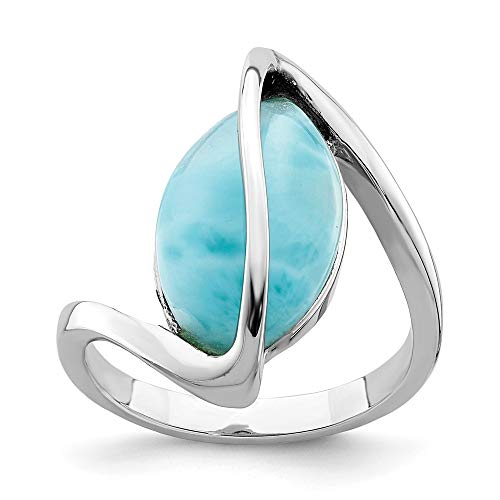 Ryan Jonathan Fine Jewelry Sterling Silver Larimar Twisted Ring, Size 16.5