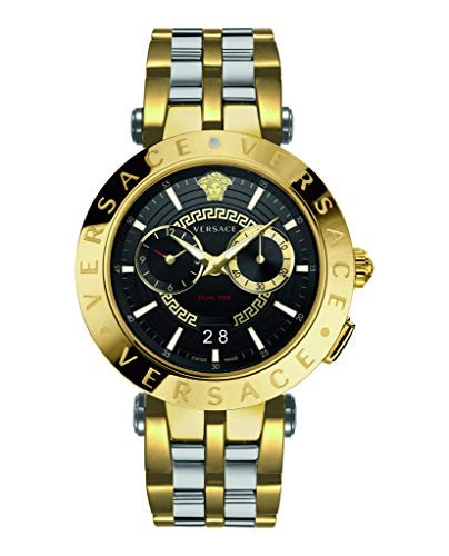 Versace Herren Armbanduhr New V-Race 46MM.D/BLK B/bic IP2Nbicolor IP2n/steel VEBV005 19