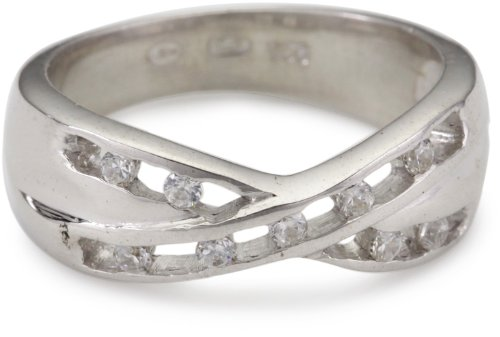 TOM TAILOR Damen-Ring 925 Sterling Silber rhodiniert Zirkonia Gr. 54 TT22031Z54