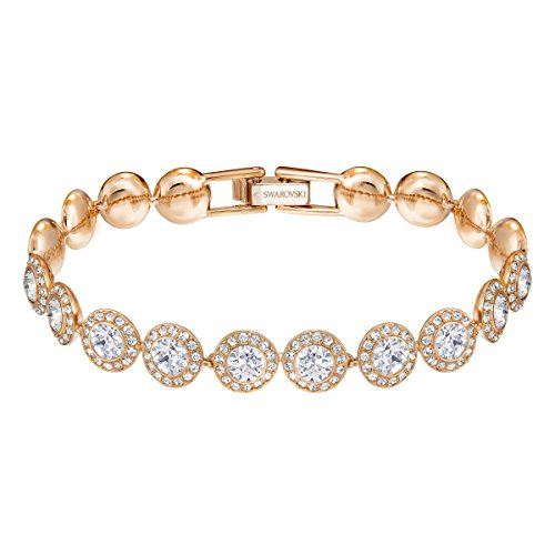 Swarovski Women's Angelic Bracelet, Brilliant White Crystals with Rose-gold Tone Plating, from the Swarovski Angelic Collection