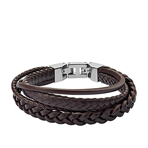 Fossil Herren Armband Brown Braided Double