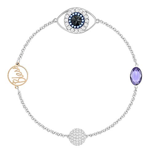 Swarovski Remix Collection Evil Eye Strand, violett, Metallmix