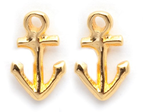 Gorjana Gold Anchor Stud Ohrringe