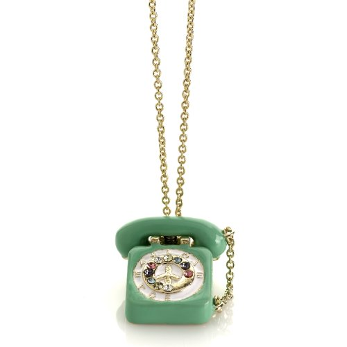 Me & Zena Halskette DREAM PHONE gold-green