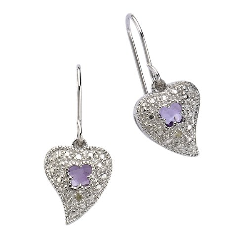 Diamonds by Ellen K. Damen-Ohrhänger 358230040R Sterling-Silber 925 Amethyst