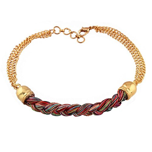 I Jewels Gold Plated Rakhi for Boloved Brother (R622)