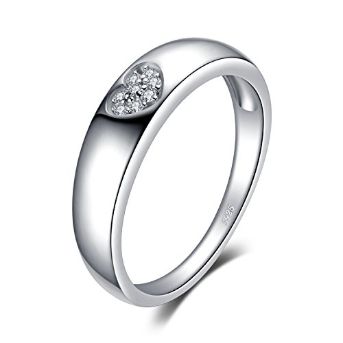 JewelryPalace Herz Liebe Zirkonia Ehering Ring 925 Sterling Silber