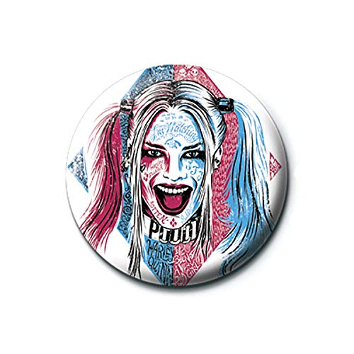 Pritties Accessories Echte DC Comics Selbstmordgruppe Harley Quinn Tattoo Taste Abzeichen Stift Retro