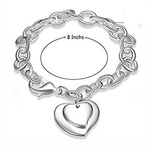 Armband 925Sterling Silber mit Anhänger Grand Double C & # X153; UR