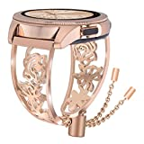 VIGOSS Armband Für Samsung Galaxy Watch 42mm Active 2 40mm 44mm Bänder Armband Rose Gold Frauen Für Damen, Metall Schmuck Edelstahl Armreif Uhrenarmband Rose Gold(Schmuck)