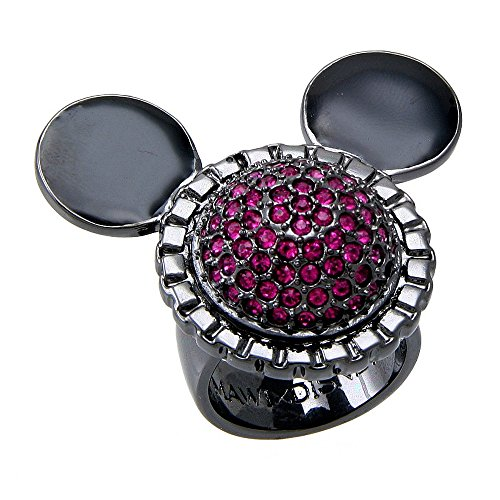 Disney Couture Mawi for Hematite Crystal Ring (Small Size)