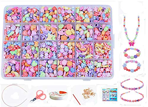 vytung Jewellery Making Kit- Beads Set for Kids Adults Children Craft DIY Necklace Bracelets Letter Alphabet Colorful Acrylic Crafting Beads Kit Box with Accessories (Color 3#)