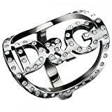 Dolce & Gabbana Jewels D&G Stars Ring #16 with Middle CIRLE Logo W/Stones DJ0519 Female
