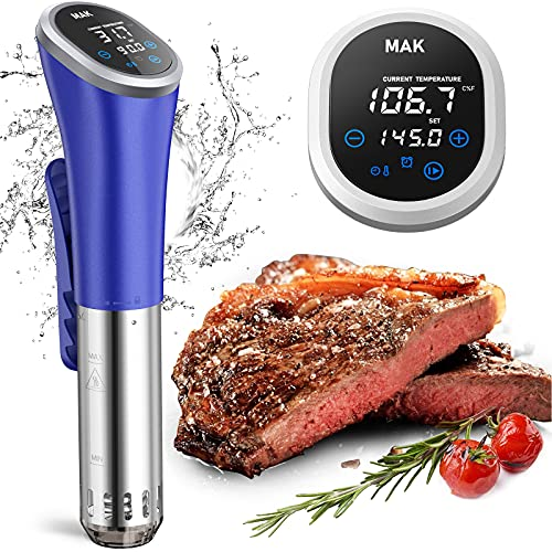 Sous Vide,Sous Vide Stick Garer Ultra-leise Precision Cooker 25-90°C Temperatur (1200W) Präziser Temperature instellung und Timer für perfektes Farbige LCD Touch-Display for Slow Cooking