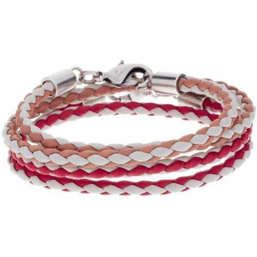 Abro Armband coral/beige/white