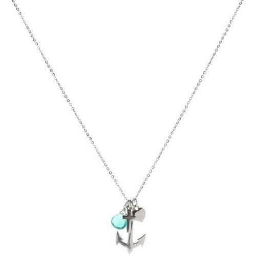 allesausliebe by milla k Halskette silber grüner Kristallanhänger