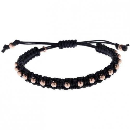 Blingissimo Bspeckled Armband black Perlen Kupferfarben
