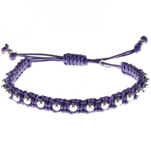 Blingissimo Bspeckled Armband deep purple