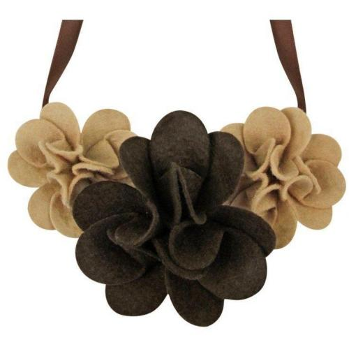 Capelli New York Felt Flower Halskette braun