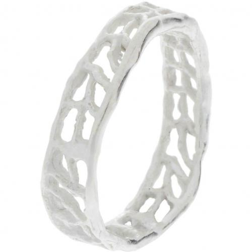 Catherine Weitzman Ring silber durchbrochene Oberfläche
