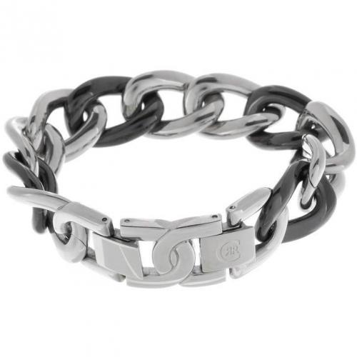 Cerruti 1881 Armband acier jedes dritte Kettenglied in Keramikschwarz