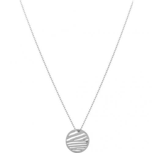 Chaingang Zebra Halskette silber Stanzung in Zebra-Optik