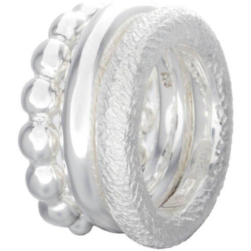 chilili 3 Pack Ring silber