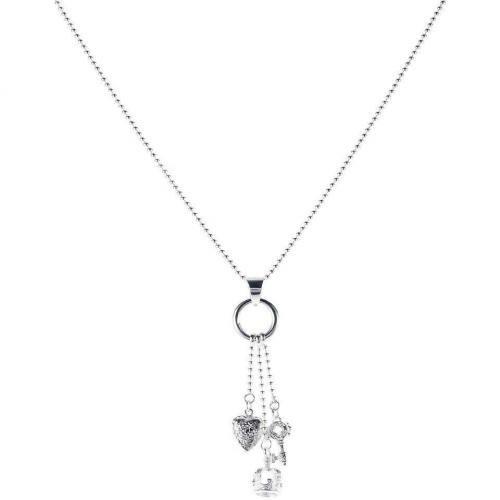 chilili Halskette silber Anhänger Krone, Herz und Schlüssel